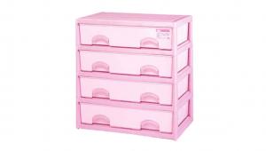 優品多層櫃-橫四格 Storage Cabinet- 4Drawers Item NO. BNW745A (200L) Size. W735xD500xH785mm Color. 紅、藍 *加厚設計 可當置物檯面使用