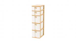 小物細縫架-五層 Storage Cabinet -3Deep, 2 Shallow Item NO. CD32 Size. W185xD265xH670mm Color. 柚木 *拉環設計 把手拉環設計,易拉好開 *可收納信件、卡片及帳單