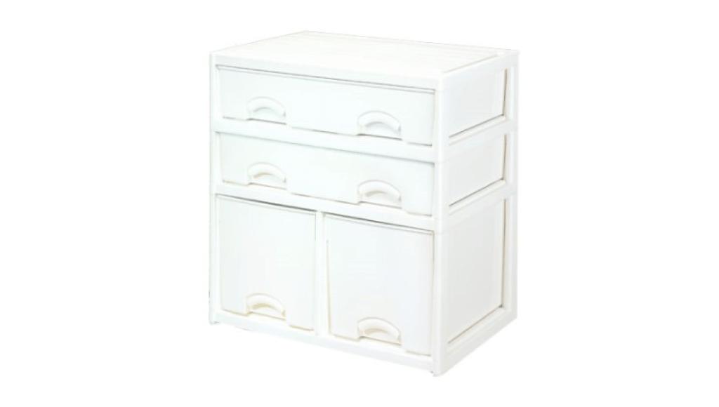 優品多層櫃-二橫二深抽 Storage Cabinet-4 Drawers Item NO. LV735A (200L) Size. W735xD500xH785mm Color. 柚木、白 *加厚設計 可當置物檯面使用