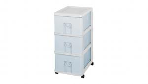 小生活組合櫃-三層(附輪) Storage Cabinet(S)- 3Drawers with wheels Item NO. NL330 (51L) Size. W305xD405xH635mm Color. 紅、藍 *貼心設計 抽屜下方有二個凸點,可防止開抽屜時突然掉落 *附輪 底層附加活動輪,方便移動