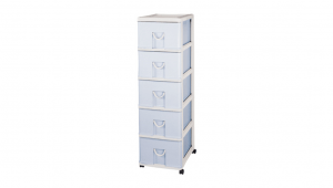新生活置物櫃-五層(附輪) Storage Cabinet(L)- 5Drawers with wheels Item NO. NL805 (200L) Size. W400xD530xH1390mm Color. 紅、藍 *貼心設計 抽屜下方有二個凸點,可防止開抽屜時突然掉落 *附輪 底層附加活動輪,方便移動