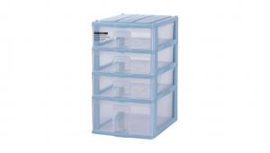 蘋果置物盒-1深3淺 Storage Cabinet -1Deep, 3 Shallow Item NO. PA13 Size. W250xD355xH443mm Color. 紅、藍、白 *透明抽屜,資料清晰可見 *可收納A4檔案、文具小物
