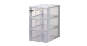 蘋果置物盒-深三層 Storage Cabinet -3 Deep Item NO. PA30 Size. W250xD355xH430mm Color. 紅、藍、白 *透明抽屜,資料清晰可見 *可收納A4檔案、文具小物
