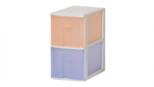 蘋果M置物盒-二層 Storage Cabinet-2 Drawers Item NO. PAM20 Size. W185xD265xH325mm *100%台灣製造 *可收納文具小物