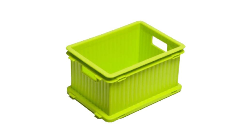 疊疊樂收納箱(S) Storage Crate (S) Item No. PC-23 Size. W230xD170xH120 mm Color. 紅、藍、綠、咖、白 *相同尺寸互相卡合組裝 *免工具,輕鬆組裝