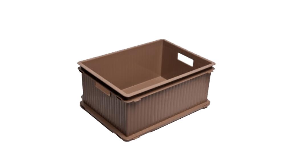 疊疊樂收納箱(L) Storage Crate (L) Item No. PC-47 Size. W470xD346xH201 mm Color. 紅、藍、綠、咖、白 *相同尺寸互相卡合組裝 *免工具,輕鬆組裝