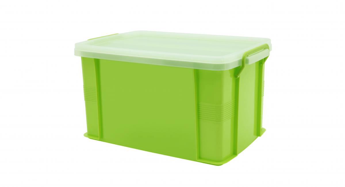 達人收納盒(XL) Container (XL) Item NO. ST-28(28L) Size. W483xD315xH263mm Color. 紅、藍、綠、橘 *把手設計 順暢好扣不易鬆脫 *堆疊設計 方便堆疊,節省空間