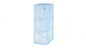 小物三層收納架 Storage Cabinet -3 Drawers Item NO. AD523 Size. W185xD265xH483mm Color. 紅、藍、綠 *拉環設計 把手拉環設計,易拉好開 *可作為文具小物收納之用 *透明抽屜,資料清晰可見
