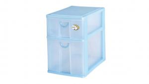 二層收納架-一大一小 Storage Cabinet -1 Deep, 1 Shallow Item NO. CD11 Size. W185xD265xH265mm Color. 紅、藍、綠 *拉環設計 把手拉環設計,易拉好開 *可收納信件、卡片及帳單 *透明抽屜,資料清晰可見