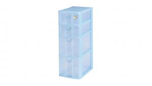 四層收納架-二大二小 Storage Cabinet -2 Deep, 2 Shallow Item NO. CD22 Size. W185xD265xH510mm Color. 紅、藍、綠 *拉環設計 把手拉環設計,易拉好開 *可收納信件、卡片及帳單 *透明抽屜,資料清晰可見
