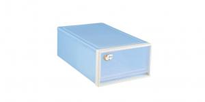 抽屜式整理箱 Storage Drawer Box- 1 Drawer Item NO. DK50 (50L) Size. W400xD650xH228mm Color. 紅、藍 *100%台灣製造 *可收納衣物襪子等