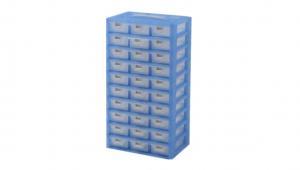 KA整理盒-30格 Accessories Box- 30 Drawers Item NO. KA8010 Size. W295xD200xH535mm *卡榫設計 抽屜不滑落,便於收藏物品 *貼心設計 把手設計隨身攜帶好便利