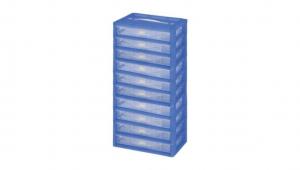 KA整理盒-十層 Carry Accessories Box- 10 Layers Item NO. KA8100 Size. W295xD200xH535mm *卡榫設計 抽屜不滑落,便於收藏物品 *隔板設計 空間使用更具靈活輕巧,可隨個人喜好放置不同的小物及零件