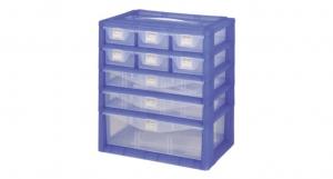 紅螞蟻手提置物盒-五層 Carry Accessories Box- 5 Layers Item NO. KD122 Size. W295xD200xH325mm *卡榫設計 抽屜不滑落,便於收藏物品 *隔板設計 空間使用更具靈活輕巧,可隨個人喜好放置不同的小物及零件