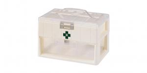 KO整理盒-二層 Carry Accessories Box- 2 Layers Item No. KO100 Size. W295xD200xH190 mm Color. 白 *貼心設計 把手設計隨身攜帶好便利 *卡榫設計 抽屜不滑落,便於收藏小物