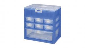 KO整理盒-四層 Carry Accessories Box- 4 Layers Item NO. KO102 Size. W295xD200xH295mm *卡榫設計 抽屜不滑落,便於收藏物品 *隔板設計 空間使用更具靈活輕巧,可隨個人喜好放置不同的小物及零件