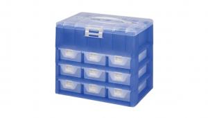 KO整理盒-四層 Carry Accessories Box- 4 Layers Item NO. KO803 Size. W295xD200xH248mm *卡榫設計 抽屜不滑落,便於收藏物品 *貼心設計 把手設計隨身攜帶好便利