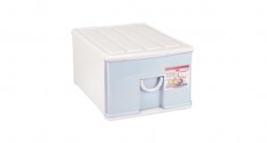 中生活抽屜式整理櫃-單層 Storage Cabinet(M)- 1 Drawer Item NO. NL610-E(25L) Size. W360xD480xH240mm Color. 紅、藍 *拉環設計 把手拉環設計,易拉好開 *搭配[小時尚收納盒]一併使用收納分類更方便