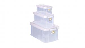 全家福收納整理箱(3合1) Container (3in1) Item NO. VCD999 Size. S+M+L Color. 紅、藍、綠 *堅固設計 加強結構,堅固又耐重 *貼心把手設計 順暢好扣不易鬆脫